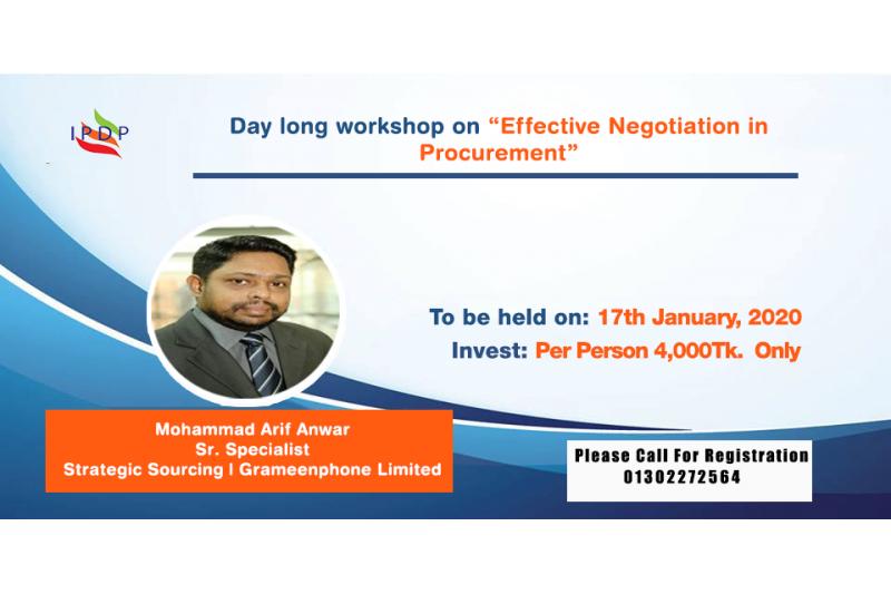 Effective Negotiation in Procurement