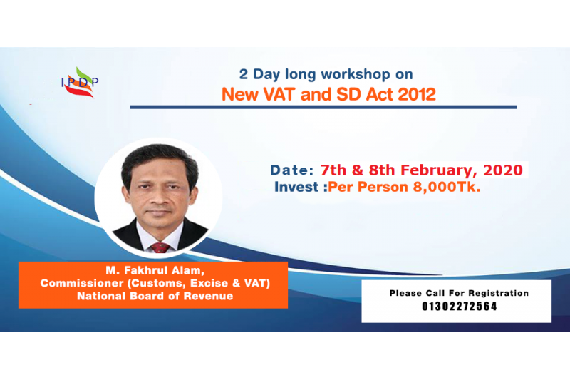 "2 Day long workshop on ""New VAT & SD Act 2012"""