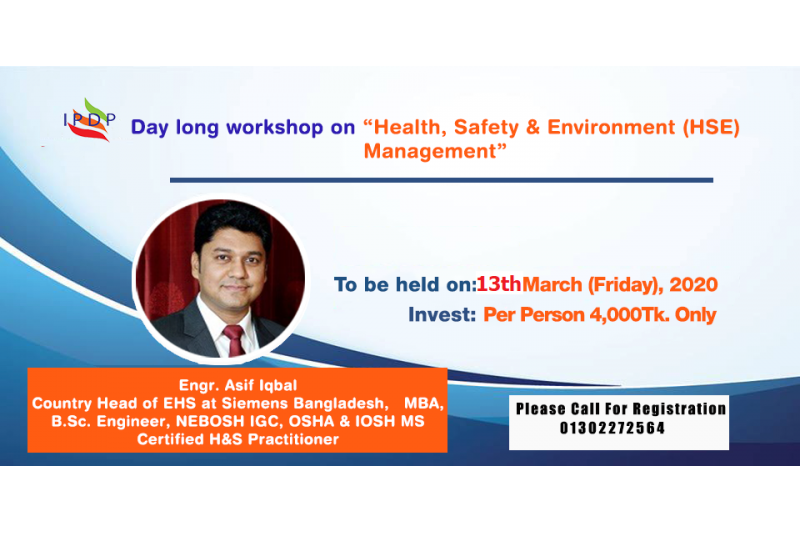 "Day long workshop on ""Health, Safety & Environment (HSE) Management"""