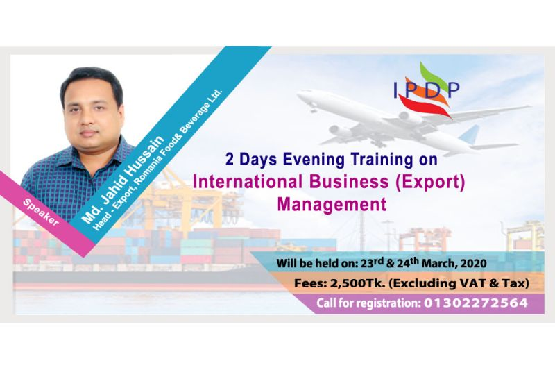 2 Days evening training on ``International Business (Export) Management""