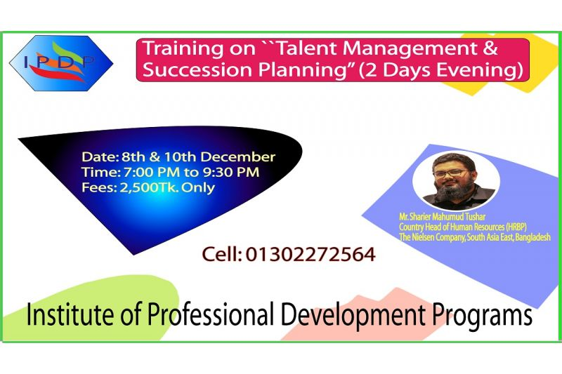 "Training on ``Talent Management & Succession Planning"" (2 Days Evening)"