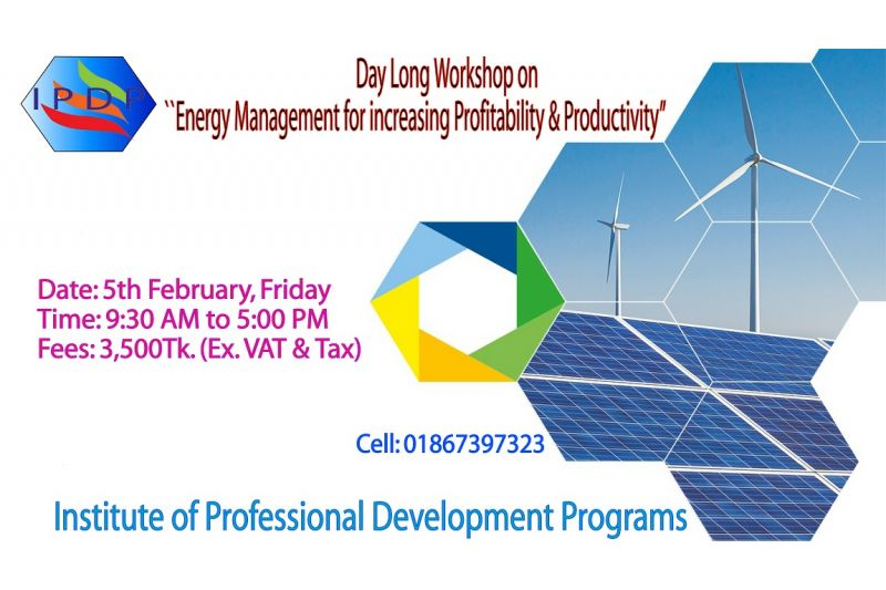 "Day long workshop on ``Energy Management for increasing Profitability & Productivity"" (EMPP)"