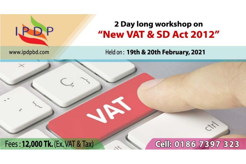 """2 Day long workshop on ``New VAT & SD Act 2012"""""""
