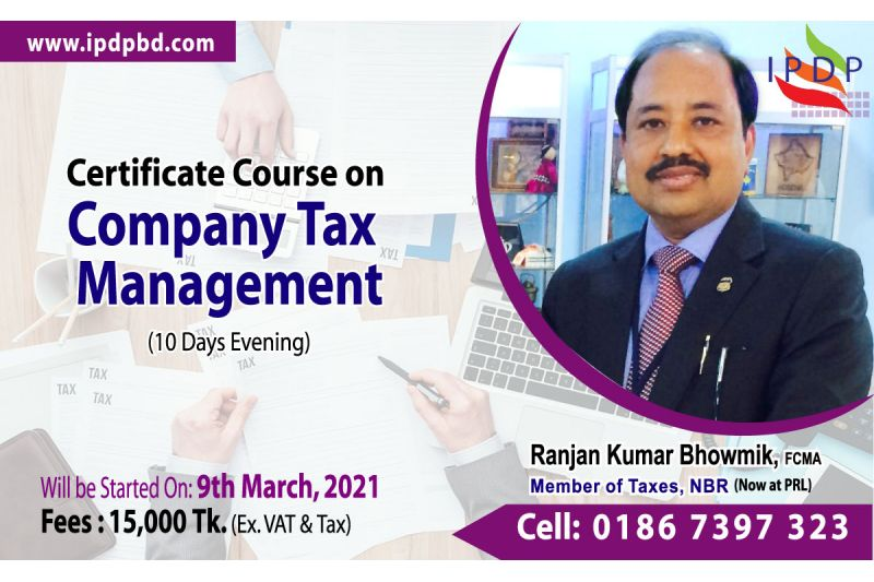 Certificate course on ``Company Tax Management''  (10 Days Evening)