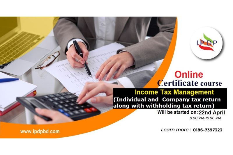 Online Certificate course on ``Income Tax Management''  (10 Days Evening)