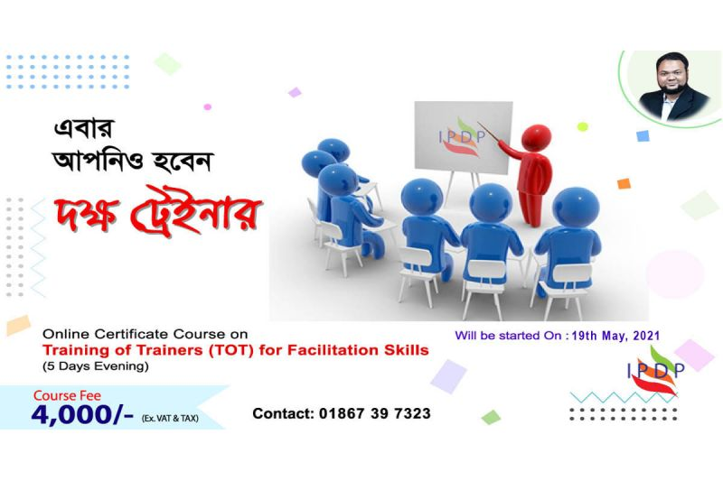 "Online Certificate Course on ``Training of Trainers (TOT) for Facilitation Skills"" (5 Days Evening)"