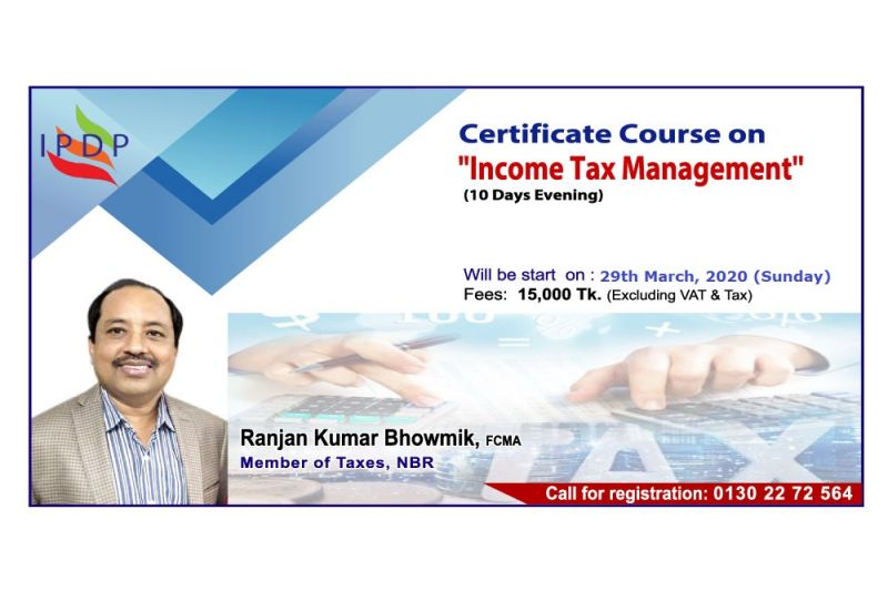 """Certificate course on """"Income Tax Management'' (10 Days Evening)"""