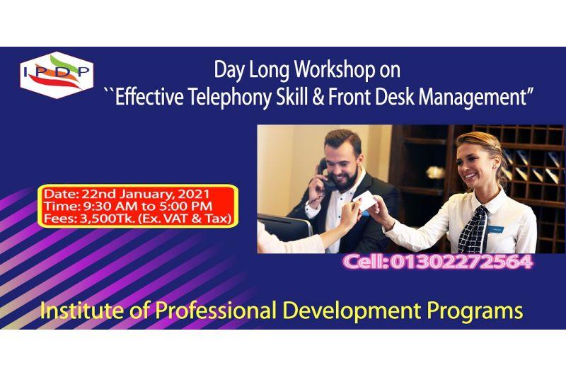 "Day long workshop on ``Effective Telephony Skill & Front Desk Management"""