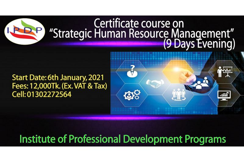 """Certificate Course on ``Strategic Human Resource Management"""" (9 Days Evening)"""