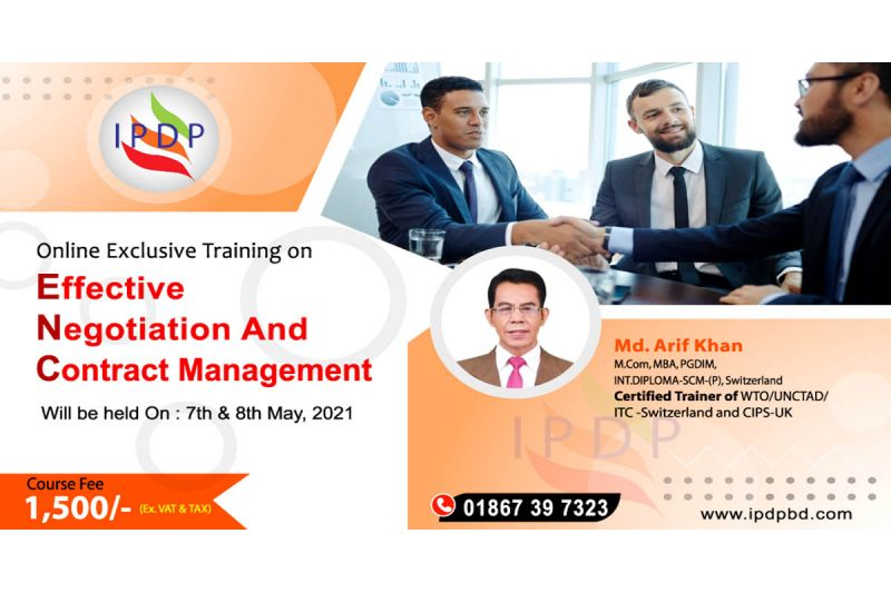 Online Exclusive Training on ``Effective Negotiation and Contract Management'' (2 Days)