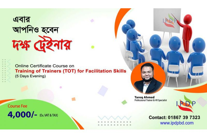 """Online Certificate Course on ``Training of Trainers (TOT) for Facilitation Skills"""" (5 Days Evening)"""