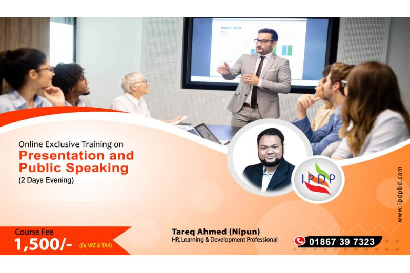 """Online Exclusive Training on ``Mastering the Art of Presentation and Public Speaking"""" (2 Days Evening)"""