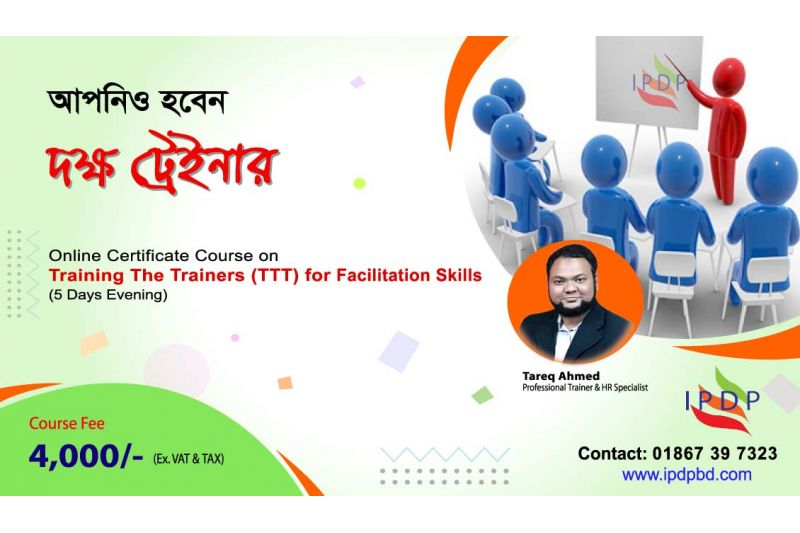 """Online Certificate Course on ``Training The Trainers (TTT) for Facilitation Skills"""" (5 Days Evening)"""